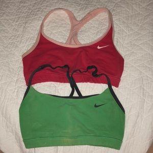 Nike reversible sports bras